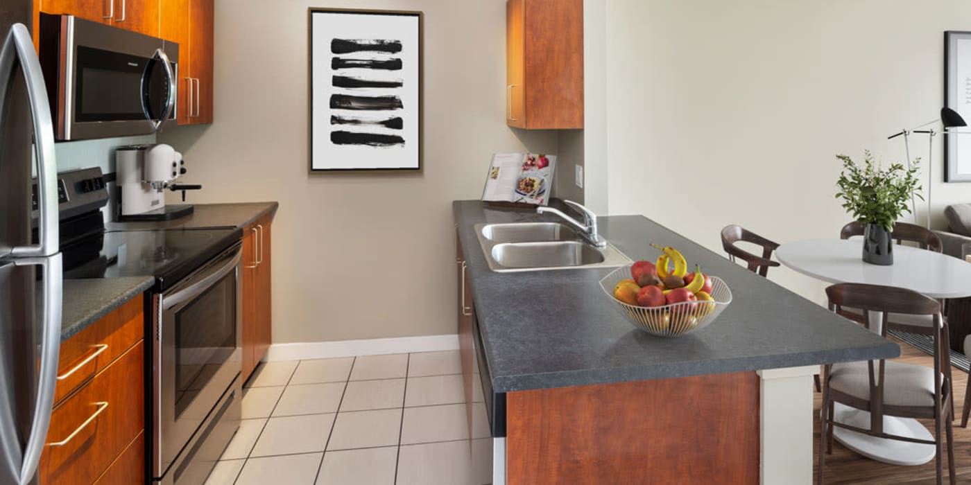 Enjoy our beautiful apartments kitchen at Yaletown 939