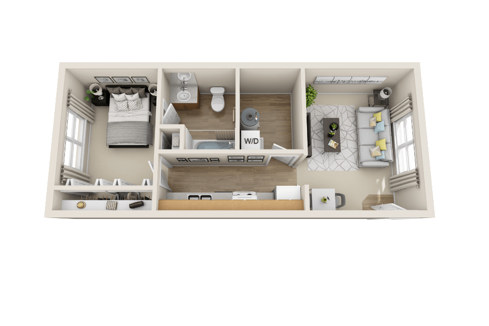 A1 floor plan at Belle Creek Apartments in Henderson, CO