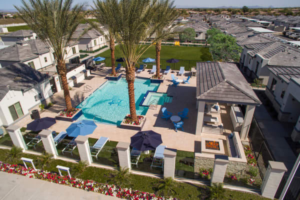 Luxury pool and ramadas at Christopher Todd Communities At Country Place in Tolleson, Arizona