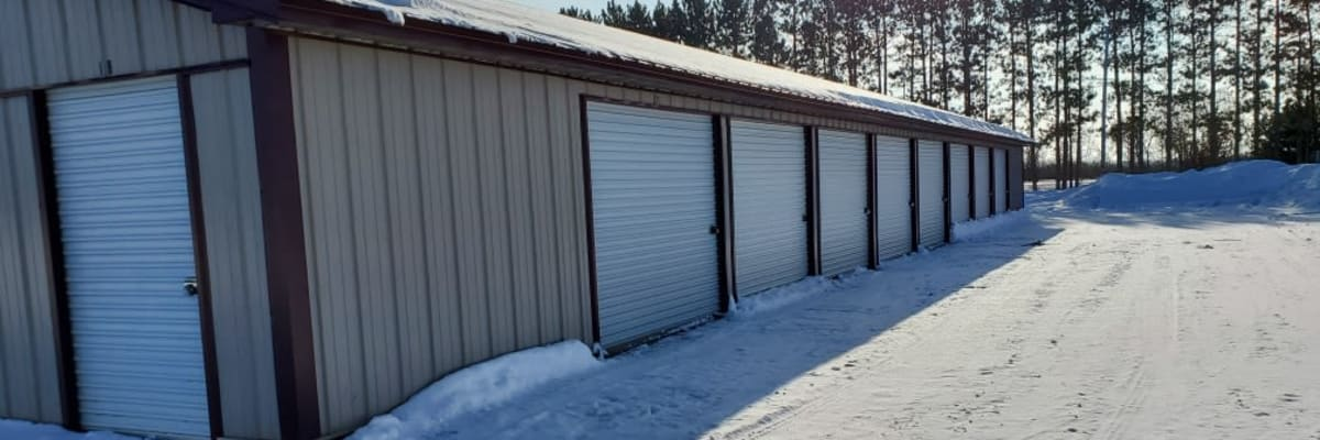 Unit size guide from KO Storage of Cass County in Pillager, Minnesota