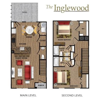 Inglewood floor plan at Callio Properties in Chattanooga, Tennessee