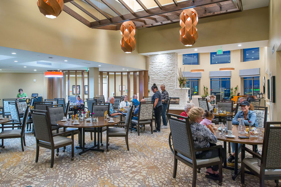 Another full view of the grand dining room at Village at Belmar
