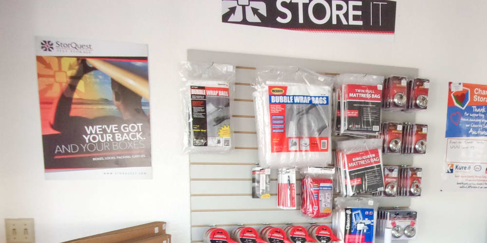 Packing supplies available at StorQuest Express Self Service Storage in South Lake Tahoe, California