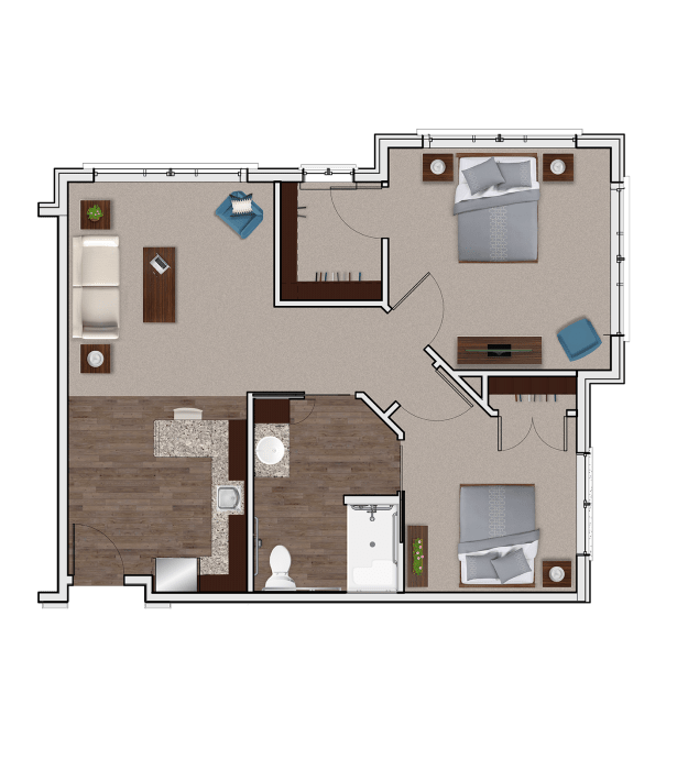 Assisted Living Two Bedroom at Stonecrest of Meridian Hills