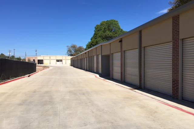 Exterior storage units at Advantage Storage -  Justin Road in Flower Mound, Texas