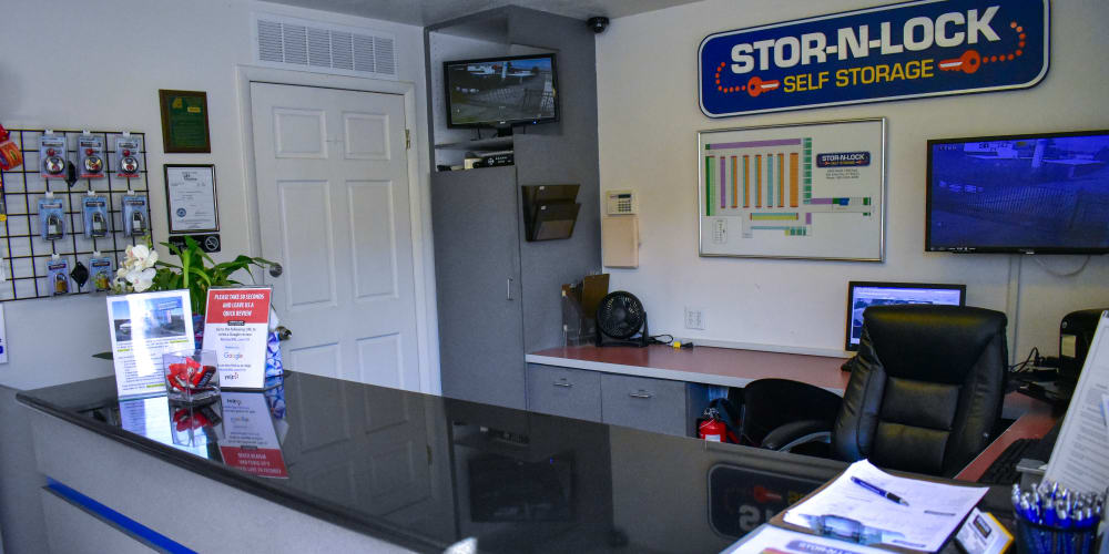 Inside the office at STOR-N-LOCK Self Storage in Cottonwood Heights, Utah