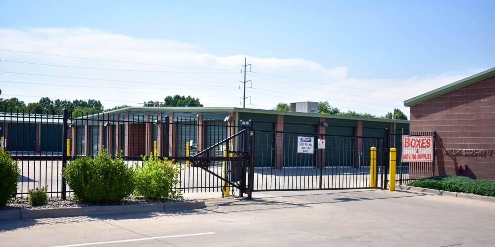 The front gate at STOR-N-LOCK Self Storage in Fort Collins, Colorado