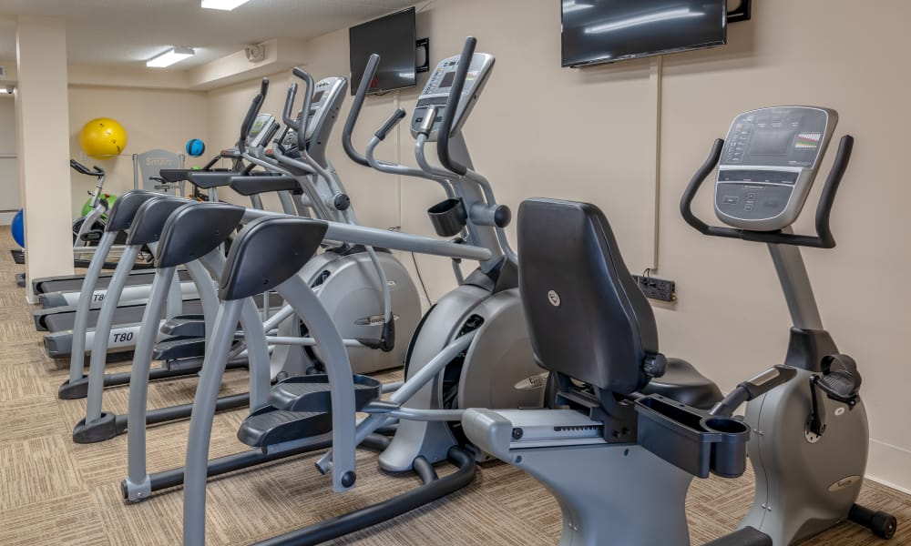 Fitness center at Curren Terrace in Norristown, Pennsylvania