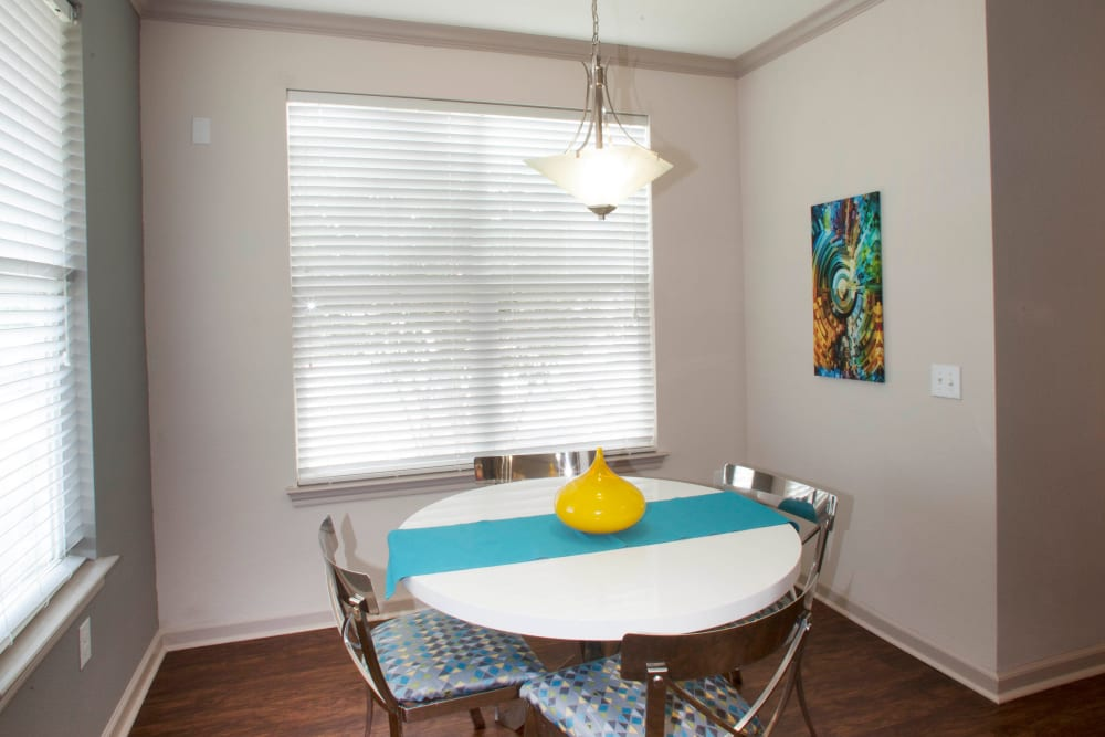 Dining nook in a model home at Olympus Katy Ranch in Katy, Texas