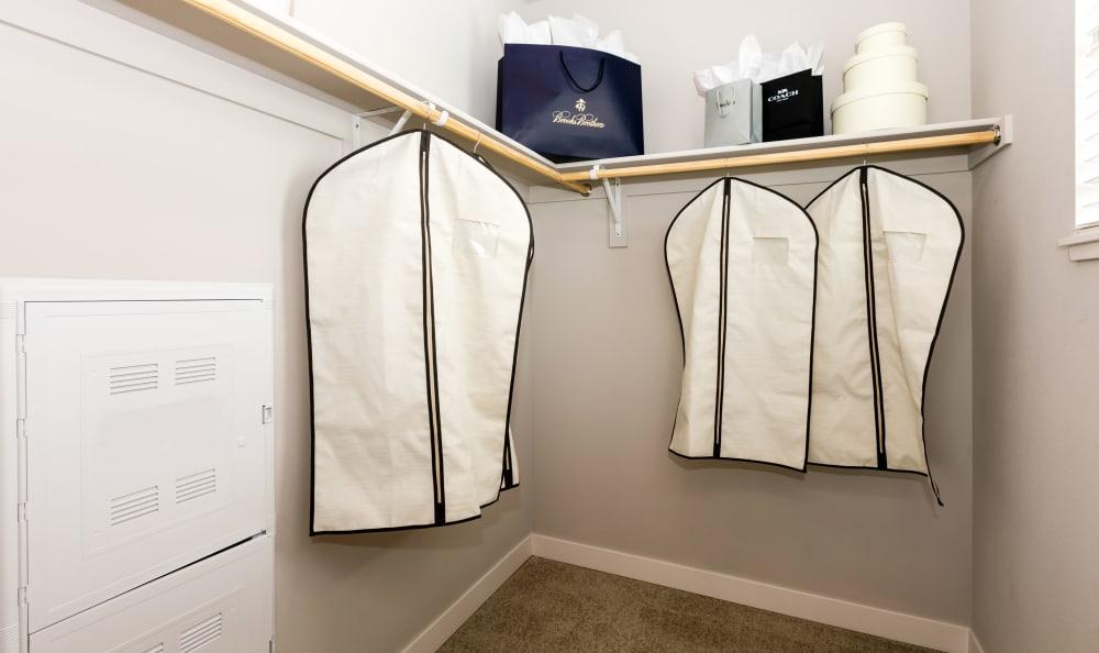 Walk-in closets at apartments in Denver, Colorado