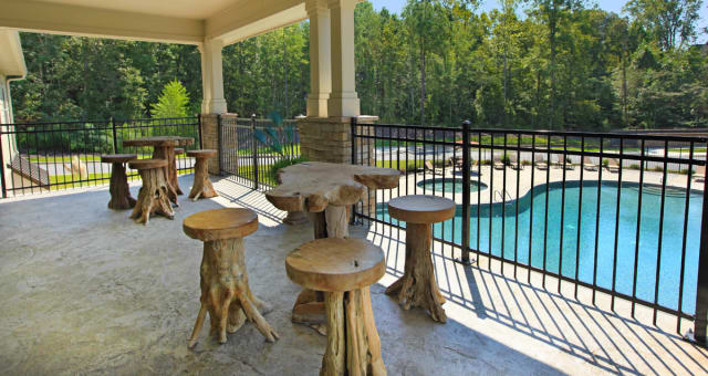 Balcony view of pool at The District at Phenix City in Phenix City, Alabama