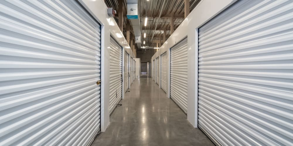 Indoor climate controlled units at StorQuest Self Storage in Gardena, California