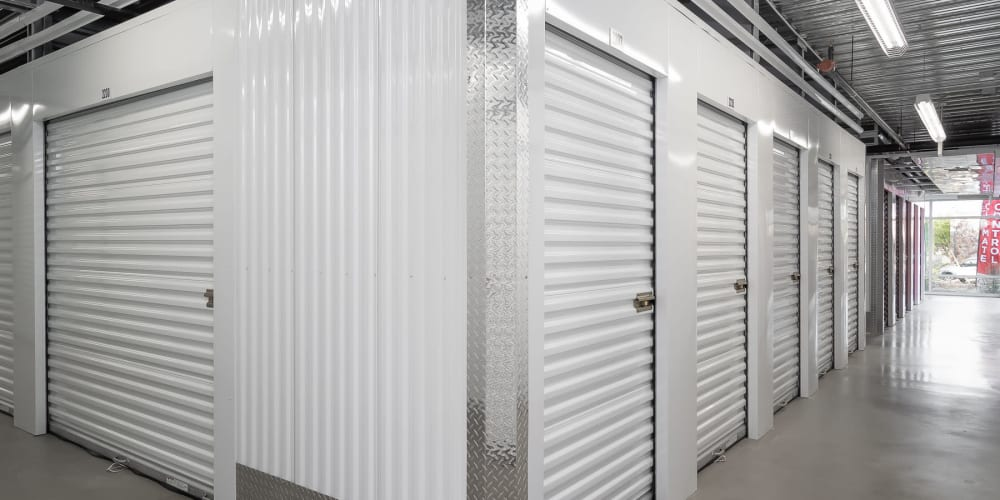 Indoor climate controlled units at StorQuest Self Storage in Los Angeles, California
