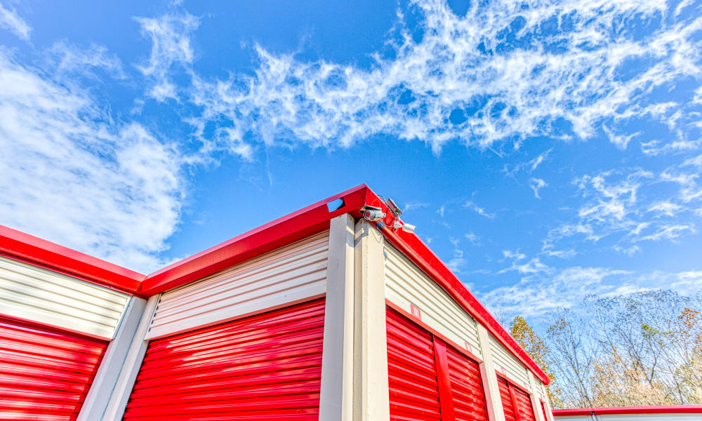 Outdoor storage units at Devon Self Storage in Cordova, Tennessee