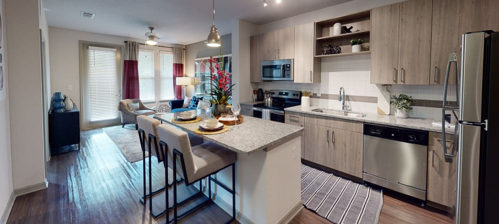 Kitchen area with breakfast island at Integra 289 Exchange in DeBary, Florida