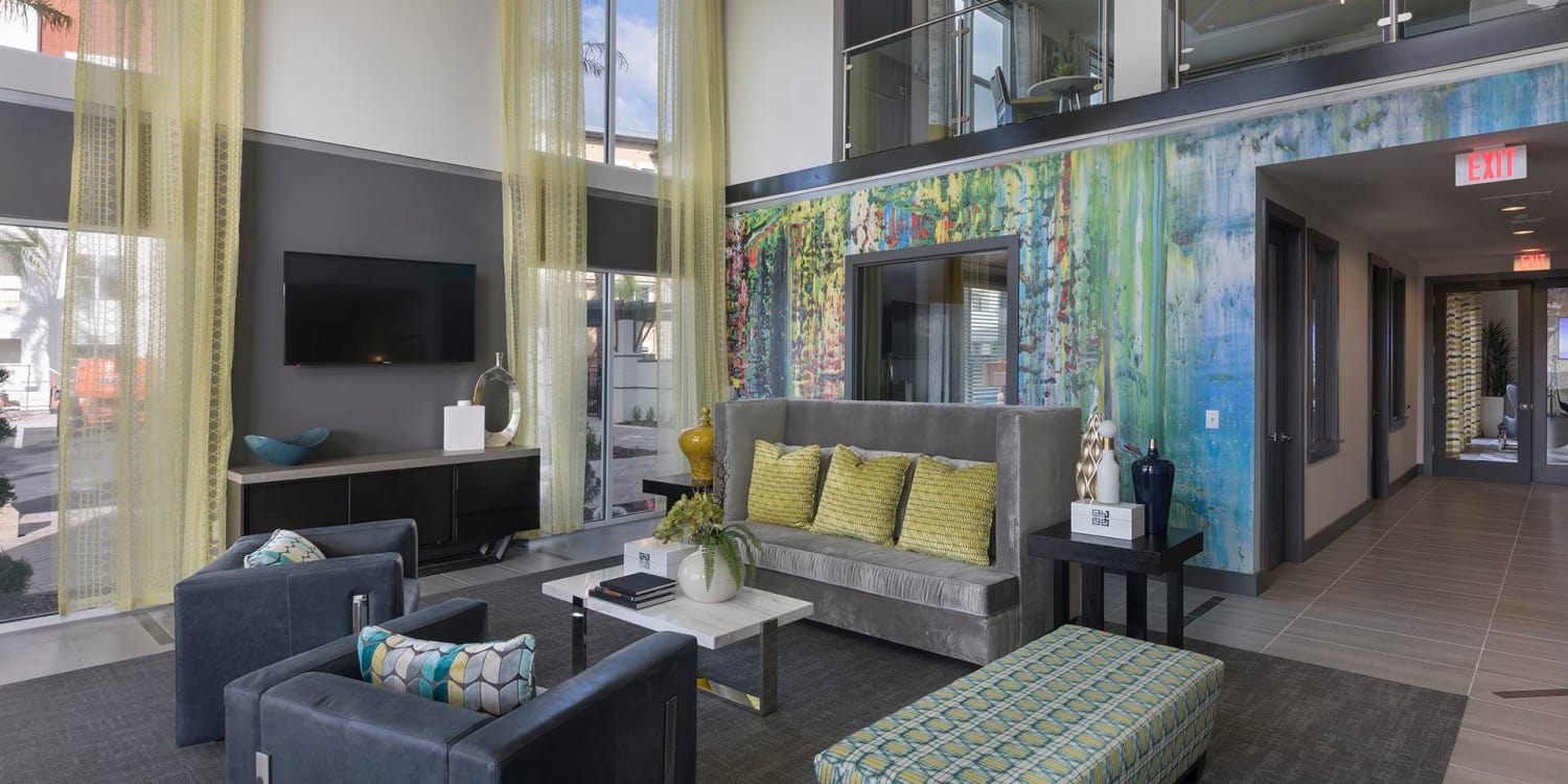 Even the bedrooms at Ancora Apartments in Orlando are expansive and inviting.