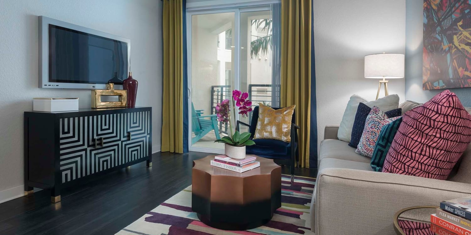 The spacious and warm living areas at Ancora Apartments will delight your friends and family.