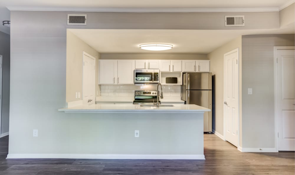 Kitchen at apartments in Austin, Texas