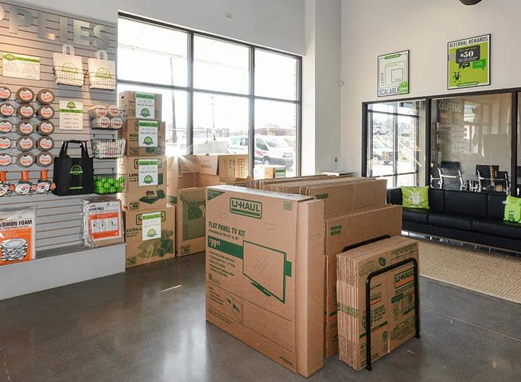 Storage features at Space Shop Self Storage in Atlanta