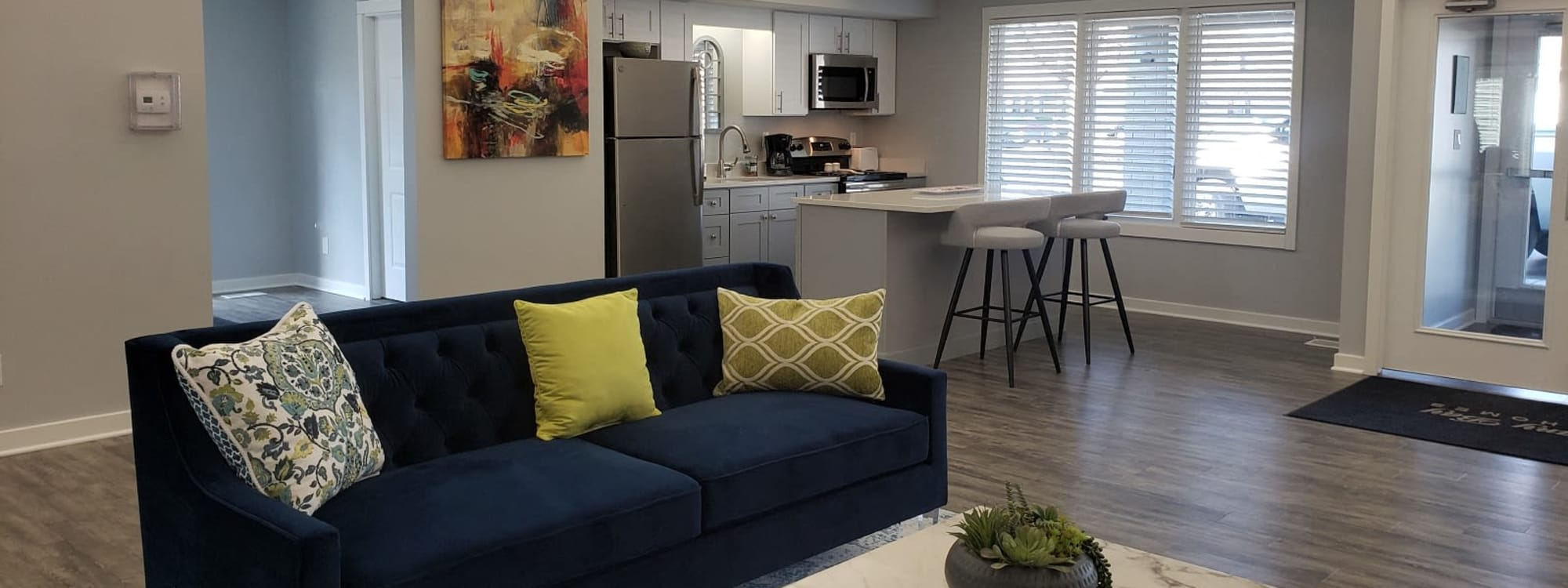 Floor plans at Brittany Bay Apartments and Townhomes in Groveport, Ohio