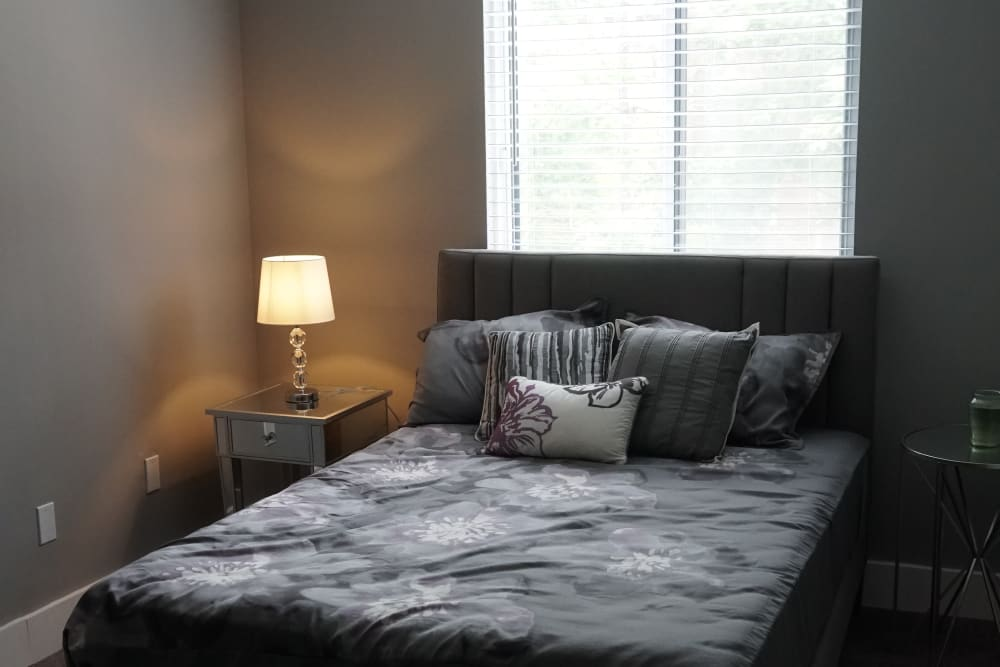 Cozy bedroom at Element 250 in Hartford, Connecticut