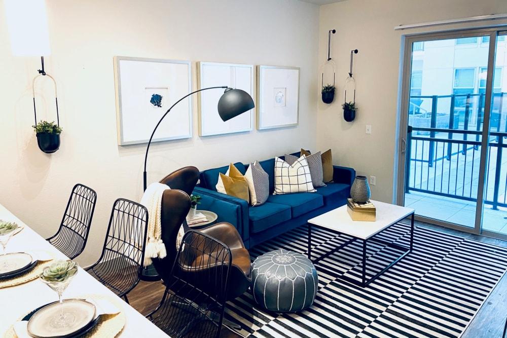artistic and trendy Living Room The Alcott in Denver, Colorado