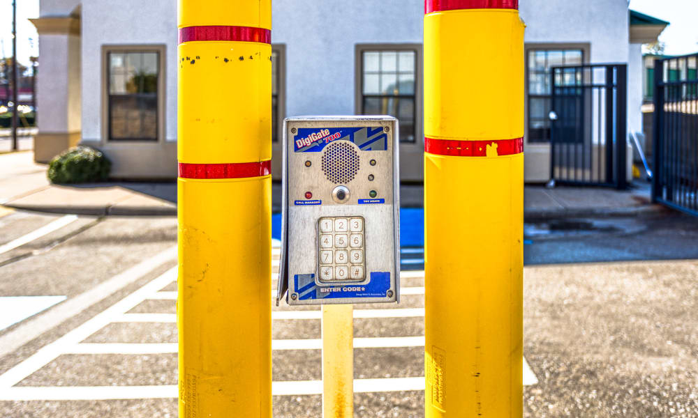 Keypad for gated entry in Sherman, Texas at Devon Self Storage