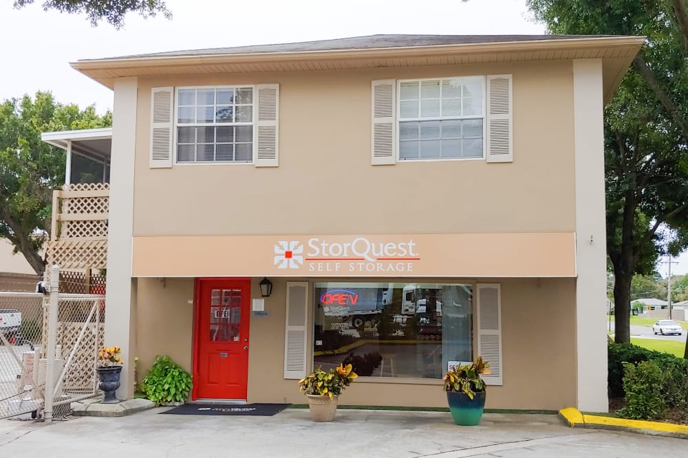 Leasing office at StorQuest Self Storage in Tampa, FL