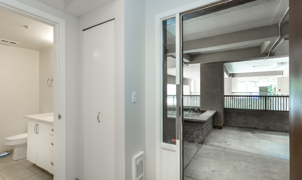 Front door to unit at Dunway Court in Vancouver