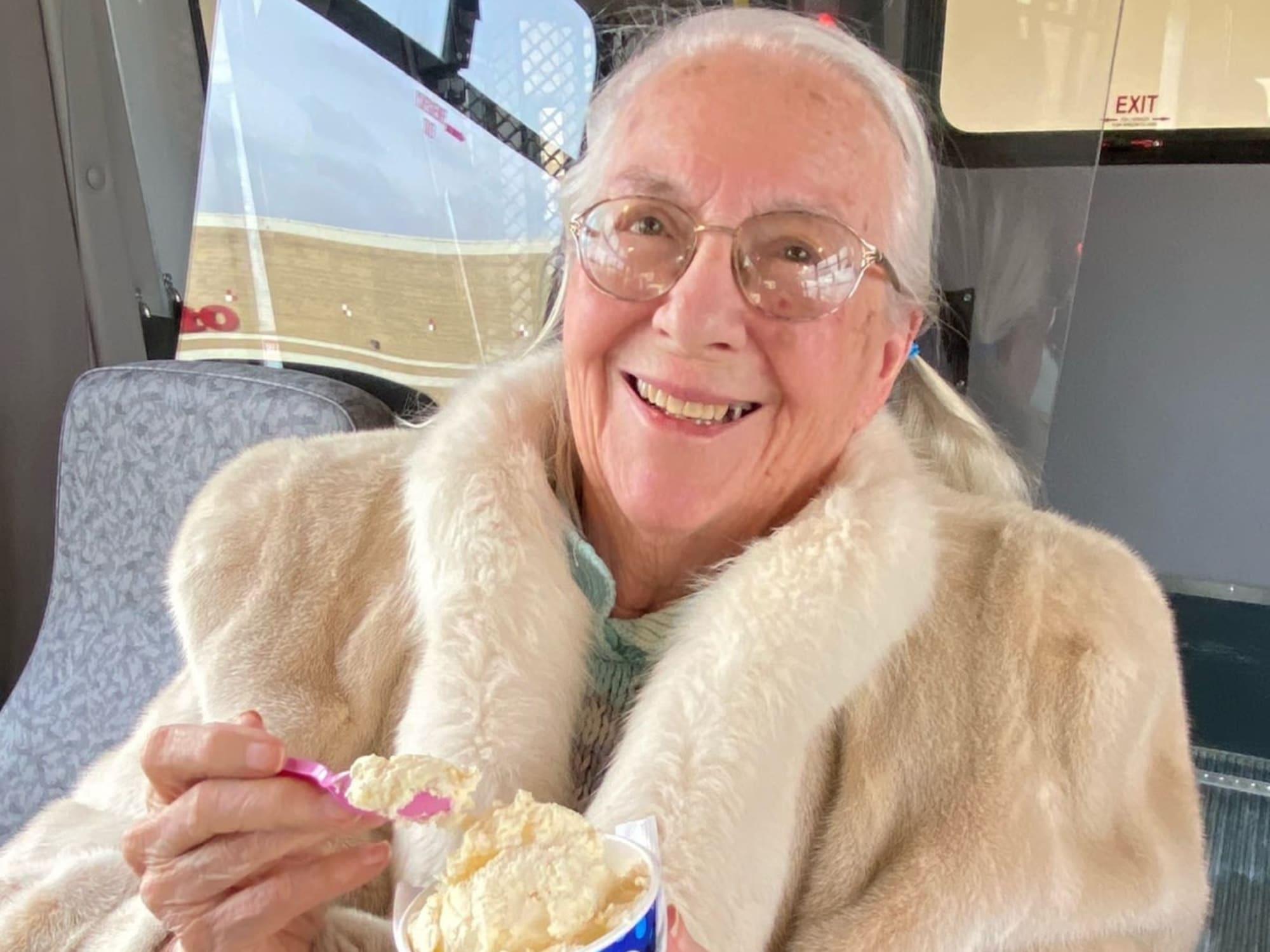 Ice cream at Seven Lakes Memory Care in Loveland, Colorado