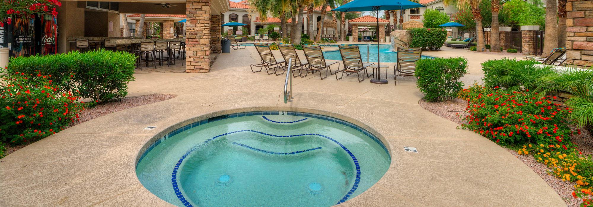 Hot tub at San Hacienda in Chandler, Arizona