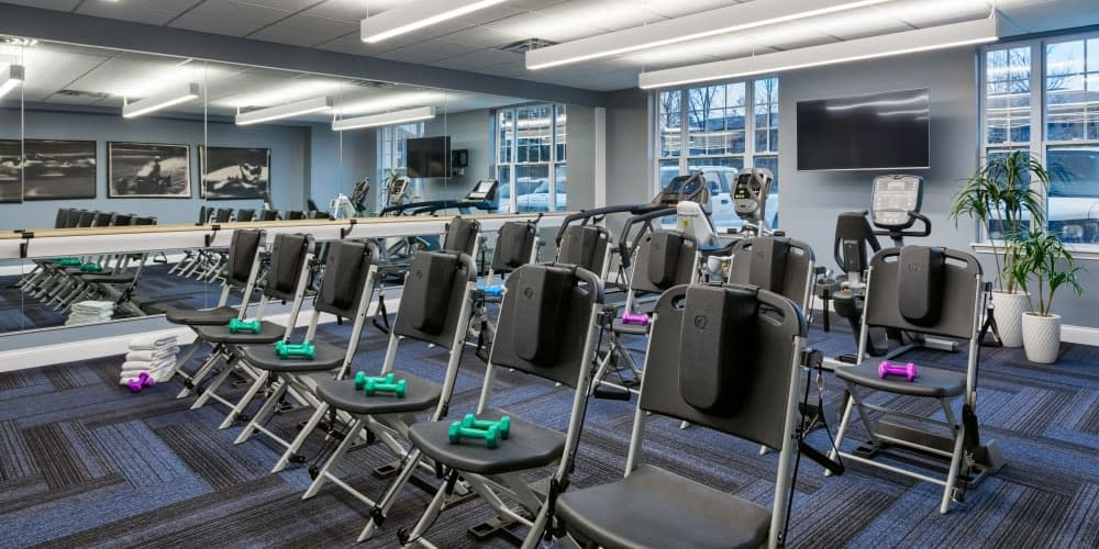 Fitness center at Stonecrest of Meridian Hills in Indianapolis, Indiana