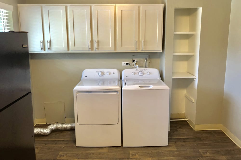Washer and dryer at Eagle Crest Apartments in Lakewood, Colorado