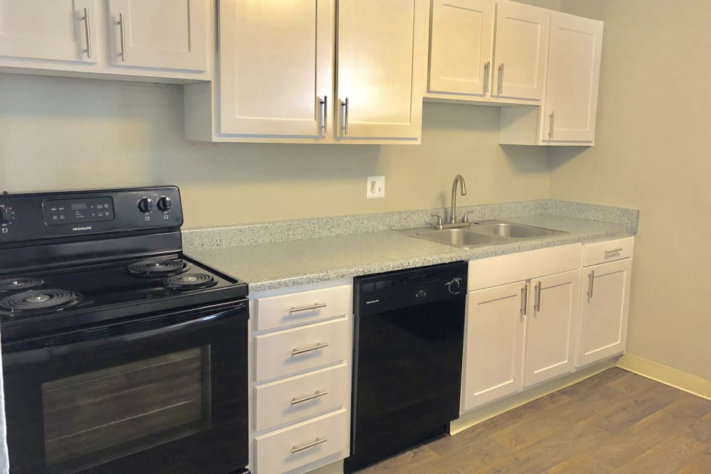kitchen at Eagle Crest Apartments in Lakewood, Colorado