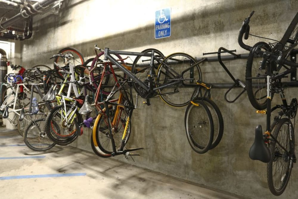 Bike storage at K Street Flats Apartment Homes in Berkeley, California
