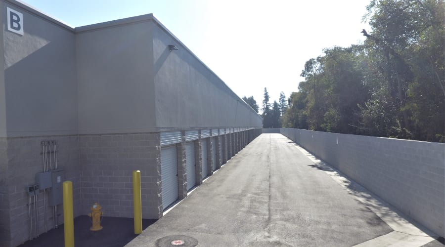 Outdoor storage units available at First Rate Storage in Stockton, California