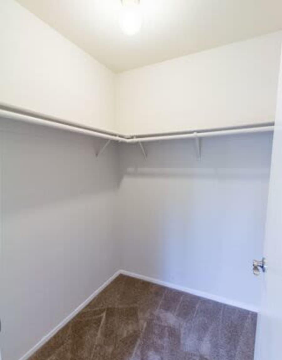 Spacious walk-In closet at Carmel Woods in Modesto, CA