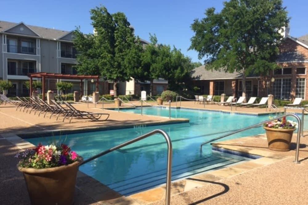 Take a dip in our sparkling pool at Prairie Springs