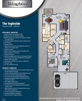 Printable floor plan at Aldingbrooke in West Bloomfield, Michigan