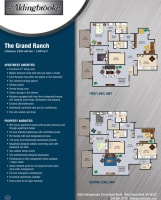 Printable floor plan image at Aldingbrooke in West Bloomfield, Michigan