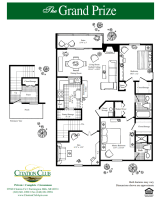 Printable floor plans at Citation Club in Farmington Hills, Michigan