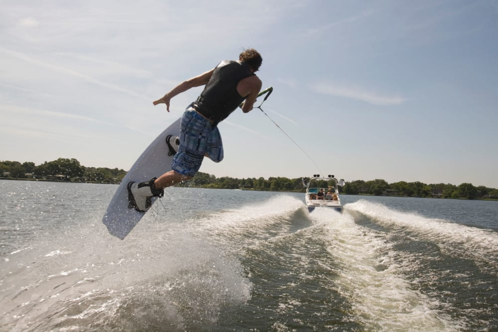 A man wakeboarding near Storage Star Tomball in Tomball, Texas