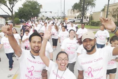 Palms at Chimney Rock Apartments walk for the cure