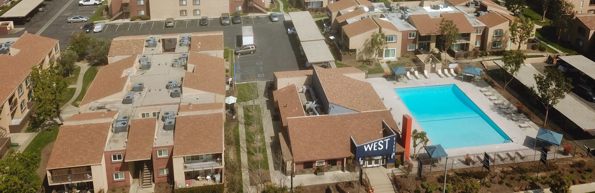 Neighborhood at West Fifth Apartments in Ontario, California