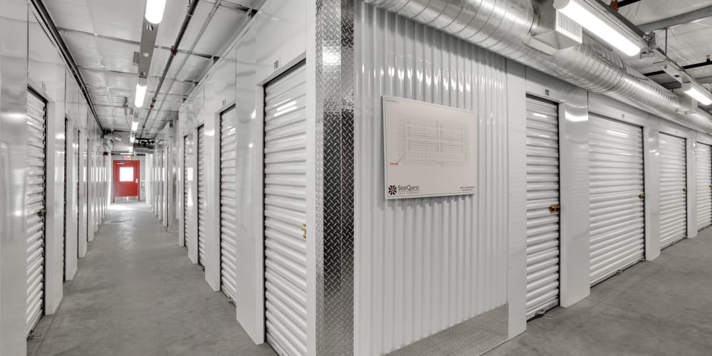 Indoor climate controlled units at StorQuest Self Storage in Carlsbad, California