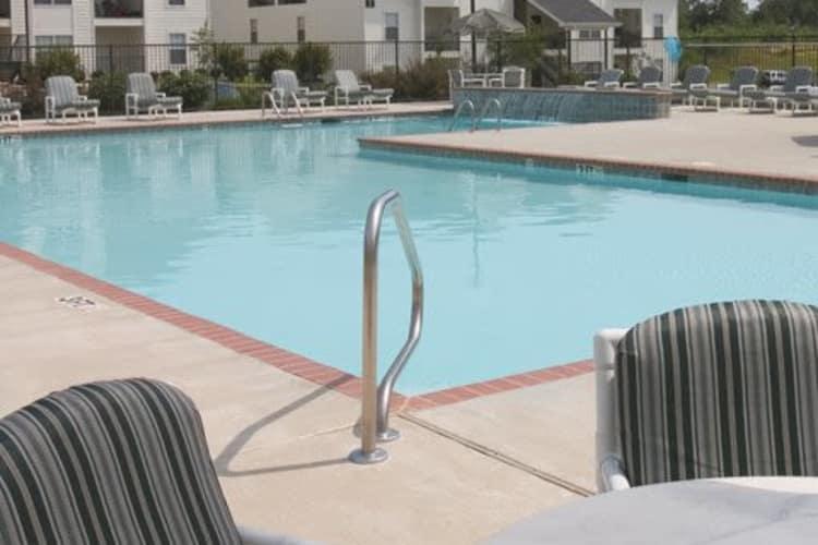 Swimming pool at Twin Oaks in Hattiesburg, Mississippi