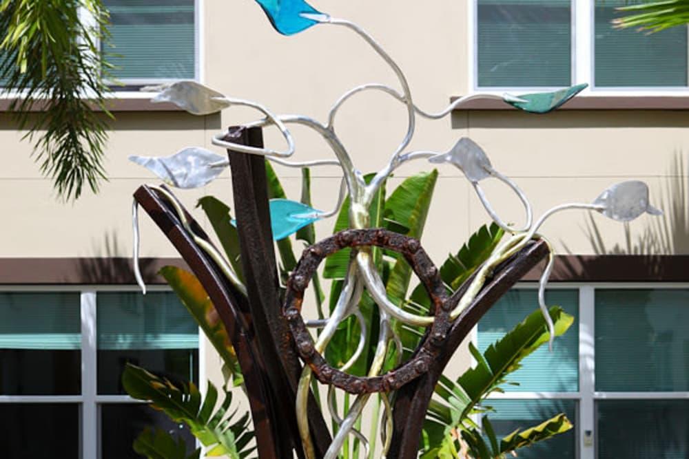 Glass artwork outside Jefferson Westshore in Tampa, Florida