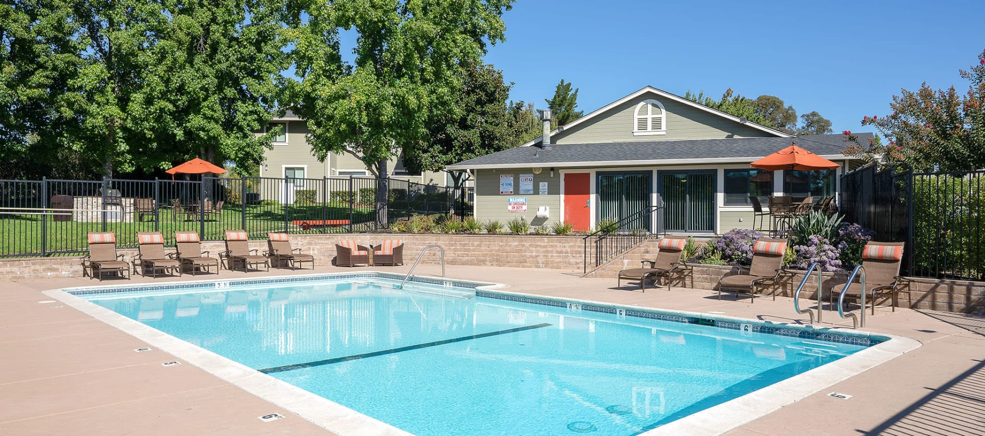 Swimming pool at Ridgecrest Apartment Homes in Martinez, California