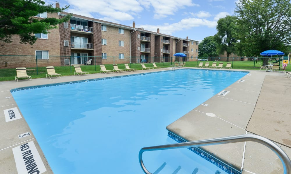 Swimming pool at Forge Gate Apartment Homes in Lansdale, PA