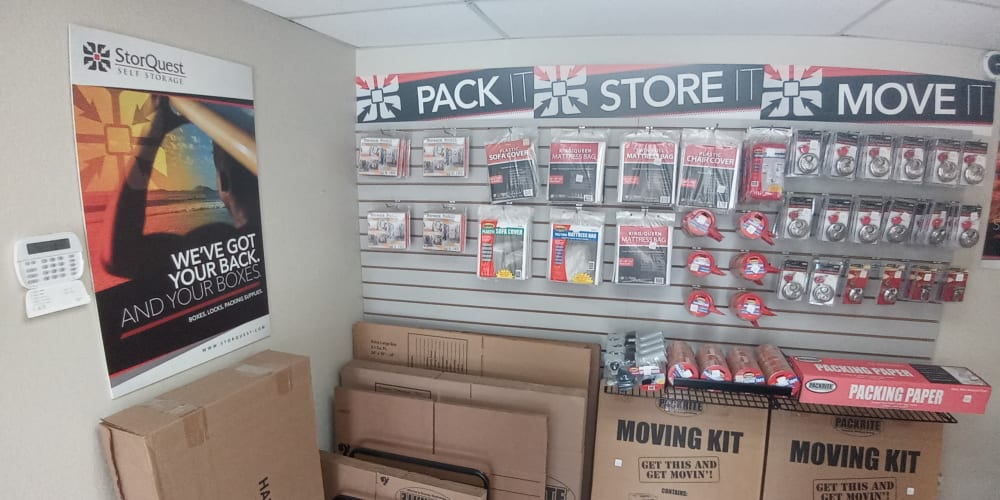 Packing supplies sold at StorQuest Self Storage in Fort Worth, Texas